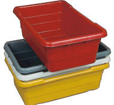 "15-1/2""W x 25""L x 8-3/4""H Red Cross Stack/Nesting Poly Box"