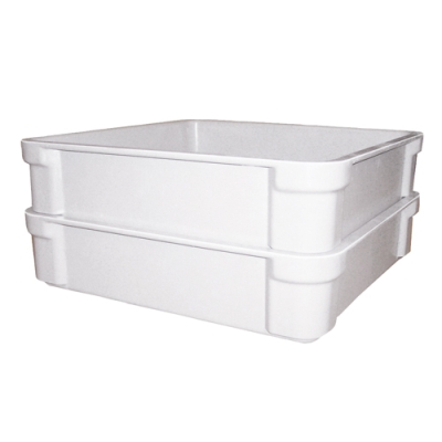"14-3/8"" L X 14-3/8"" W X 3-1/2"" Hgt. Fiberglass Stacking Box"