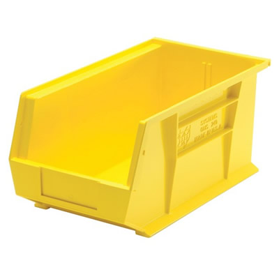 "Yellow Quantum® Ultra Series Stack & Hang Bin - 14-3/4"" L x 8-1/4"" W x 7"" Hgt."