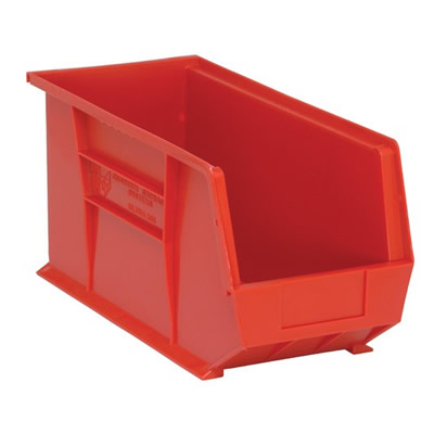 "Red Quantum® Ultra Series Stack & Hang Bin - 18"" L x 8-1/4"" W x 9"" Hgt."