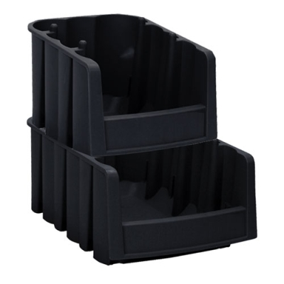 "Black Akro-Mils® Economy Nest and Stack Bins, 11 7/8"" x 8 3/8"" x 5"""