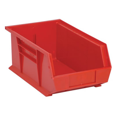 "Red Quantum® Ultra Series Stack & Hang Bin - 13-5/8"" L x 8-1/4"" W x 6"" Hgt."