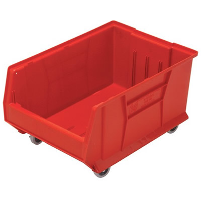 "23-7/8""L x 16-1/2""W x 11""H Red HULK Mobile Bin"