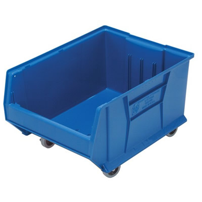 "23-7/8""L x 18-1/4""W x 12""H Blue HULK Mobile Bin"