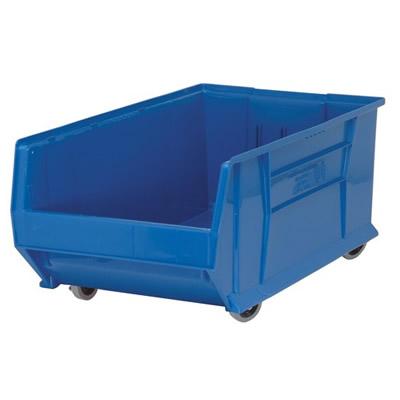 "29-7/8""L x 18-1/4""W x 12""H Blue Mobile HULK Bin"