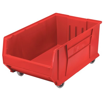 "29-7/8"" L x 18-1/4"" W x 12"" Hgt. Red HULK Mobile Bin"
