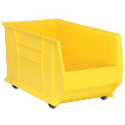 "29-7/8""L x 16-1/2""W x 15""H Yellow Mobile HULK Bin"