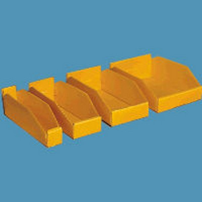 "2"" Wide Corrugated Plastic Bins for 18"" Shelving 17 3/4 x 2 x 4"