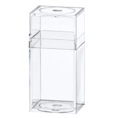 "Clear Plastic Box with Removable Lid 1-3/16"" x 1-3/16"" x 2-7/16"""