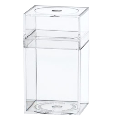 "Clear Plastic Box with Removable Lid 1-5/8"" L x 1-5/8"" W x 2-7/8"" Hgt."