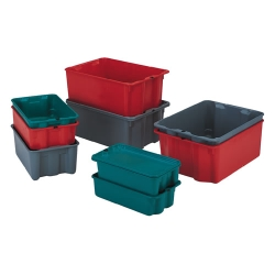 LEWISBins+™ Stack-N-Nest® Fiberglass Pans Covers u0026 Dollies  sc 1 st  US Plastics & Stack/Nest Totes Category | Stack Totes Nest Totes and Nesting Tote ...