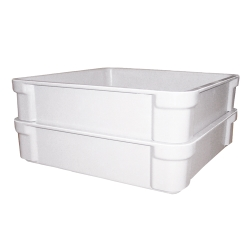 "20-3/4"" L x 11-1/4"" W x 3-1/4"" Hgt. Fiberglass Stacking Box"