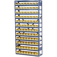 "Steel Rack with 12 Shelves for 11 5/8"" or 18"" Bins"