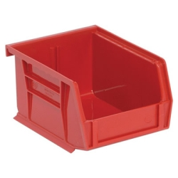 "5-3/8""L x 4-1/8""W x 3""H Red Quantum® Ultra Series Stack & Hang Bin"