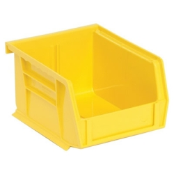 "5-3/8""L x 4-1/8""W x 3""H Yellow Quantum® Ultra Series Stack & Hang Bin"