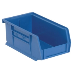 "7-3/8""L x 4-1/8""W x 3""H Blue Quantum® Ultra Series Stack & Hang Bin"