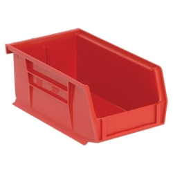 "7-3/8""L x 4-1/8""W x 3""H Red Quantum® Ultra Series Stack & Hang Bin"