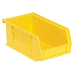 "7-3/8""L x 4-1/8""W x 3""H Yellow Quantum® Ultra Series Stack & Hang Bin"