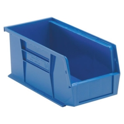 "10-7/8""L x 5-1/2""W x 5""H Blue Quantum® Ultra Series Stack & Hang Bin"