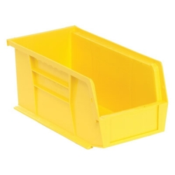 "10-7/8""L x 5-1/2""W x 5""H Yellow Quantum® Stack & Hang Bin"