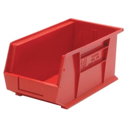 "14-3/4""L x 8-1/4""W x 7""H Red Quantum® Ultra Series Stack & Hang Bin"