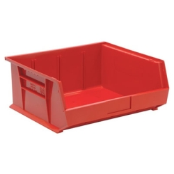 "14-3/4""L x 16-1/2""W x 7""H Red Quantum® Stack & Hang Bin"