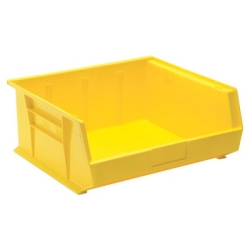 "14-3/4""L x 16-1/2""W x 7""H Yellow Quantum® Stack & Hang Bin"