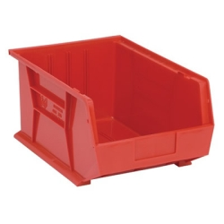 "Red Quantum® Ultra Series Stack & Hang Bin - 16"" L x 11"" W x 8"" Hgt."