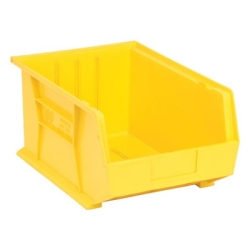 "16""L x 11""W x 8""H Yellow Quantum® Ultra Series Stack & Hang Bin"