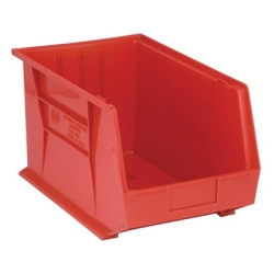 "18""L x 11""W x 10""H Red Quantum® Ultra Series Stack & Hang Bin"