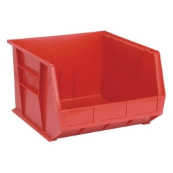 "18""L x 16-1/2""W x 11""H Red Quantum® Ultra Series Stack & Hang Bin"