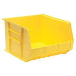 "18""L x 16-1/2""W x 11""H Yellow Quantum® Ultra Series Stack & Hang Bin"