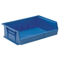 "10-7/8""L x 16-1/2""W x 5""H Blue Quantum® Ultra Series Stack & Hang Bin"