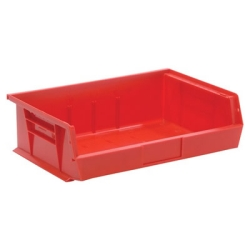 "10-7/8""L x 16-1/2""W x 5"" Red Quantum® Stack & Hang Bin"