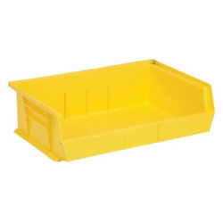 "10-7/8""L x 16-1/2""W x 5"" Yellow Quantum® Ultra Series Stack & Hang Bin"