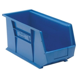 "18""L x 8-1/4""W x 9""H Blue Quantum® Ultra Series Stack & Hang Bin"