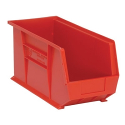 "18""L x 8-1/4""W x 9""H Red Quantum® Ultra Series Stack & Hang Bin"