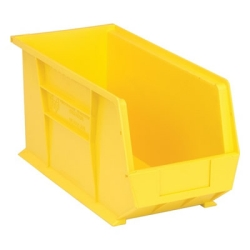 "Yellow Quantum® Ultra Series Stack & Hang Bin - 18"" L x 8-1/4"" W x 9"" Hgt."