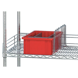 Quantum® Q-Stor Side & Back Ledges for Wire Shelving