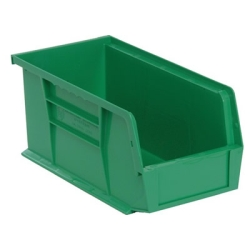 "10-7/8""L x 5-1/2""W x 5""H Green Quantum® Ultra Series Stack & Hang Bin"