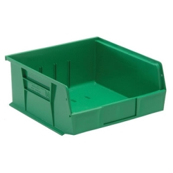 "10-7/8""L x 11""W x 5""H Green Quantum® Ultra Series Stack & Hang Bin"