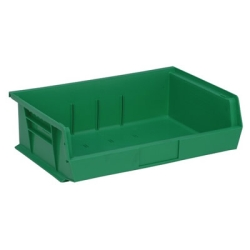 "10-7/8""L x 16-1/2""W x 5""H Green Quantum® Ultra Series Stack & Hang Bin"