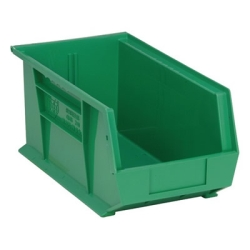 "14-3/4""L x 8-1/4""W x 7""H Green Quantum® Ultra Series Stack & Hang Bin"