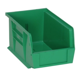 "9-1/4""L x 6""W x 5""H Green Quantum® Ultra Series Stack & Hang Bin"