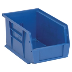 "9-1/4""L x 6""W x 5""H Blue Quantum® Ultra Series Stack & Hang Bin"