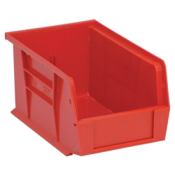 "9-1/4""L x 6""W x 5""H Red Quantum® Stack & Hang Bin"