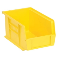 "9-1/4""L x 6""W x 5""H Yellow Quantum® Ultra Series Stack & Hang Bin"