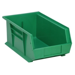 "13-5/8""L x 8-1/4""W x 6""H Green Quantum® Ultra Series Stack & Hang Bin"