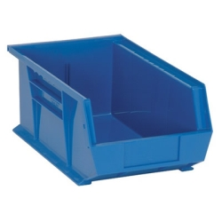 "13-5/8""L x 8-1/4""W x 6""H Blue Quantum® Ultra Series Stack & Hang Bin"