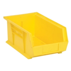 "13-5/8""L x 8-1/4""W x 6""H Yellow Quantum® Ultra Series Stack & Hang Bin"